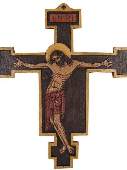 Antique finish chapel crucifix icon