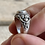 Thumbnail: Antique sterling silver floral and gemstone engagement ring size 5