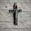 Thumbnail: Rare French antique brass and ebony cross from nuns rosary 1800s