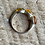 Thumbnail: Antique sterling silver amber ring size 8 1/2