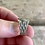 Thumbnail: Retro sterling silver engraved ring size 7