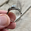 Thumbnail: Antique sterling silver moonstone ring size 8