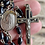 Thumbnail: Antique nuns rosary w/ sterling center and a ebony inlay cross rare!