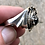 Thumbnail: Large sterling silver and gemstone dragon ring size 10 1/2