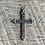 Thumbnail: Antique sterling silver cross pendant
