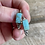 Thumbnail: Antique sterling turquoise earrings