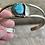 Thumbnail: Sterling silver turquoise bracelet