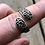 Thumbnail: Sterling silver sizable heart and floral etched ring