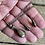 Thumbnail: Antique sterling silver poison bottle necklace and earrings set rare