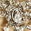 Thumbnail: Antique sterling silver and crystal rosary
