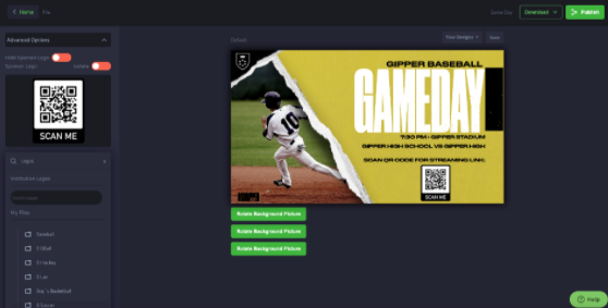 social media graphics boxout sports hometown ticketing