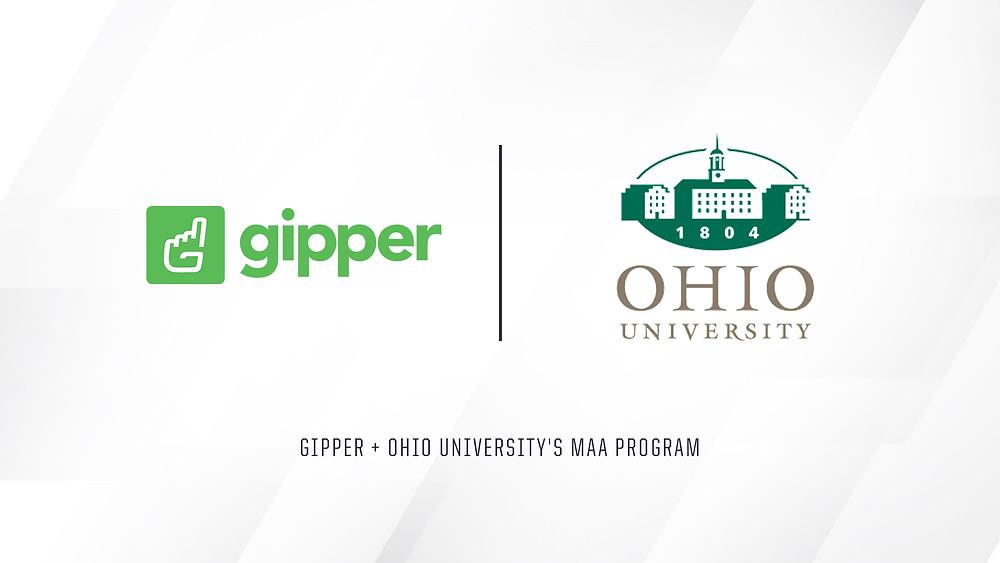Gipper and Ohio University's MAA Program Partnership Graphic