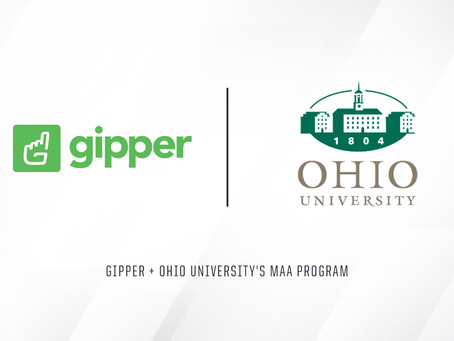 Gipper and Ohio University's MAA Program Announce New Partnership