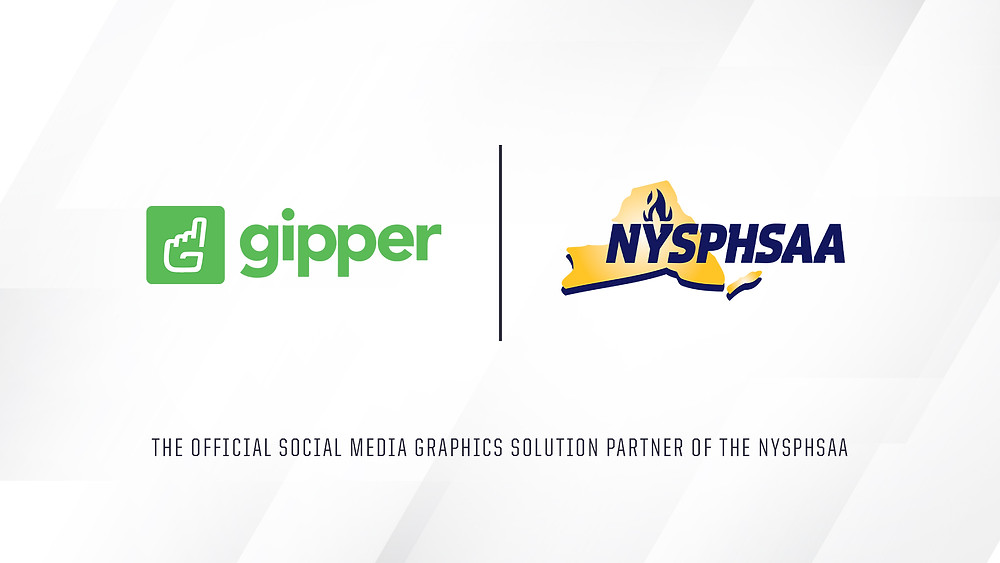 Gipper and NYSPHSAA Partnership Graphic