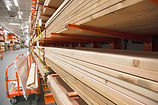 Lumber Selection at Hardware Store
