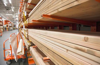 Lumber Selection at Hardware Store