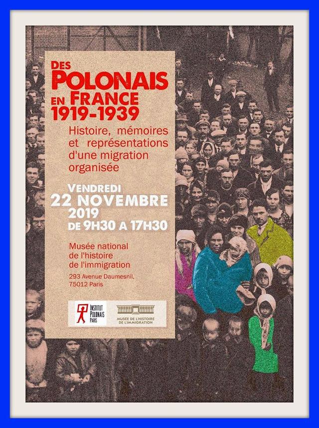 Vendredi 22 novembre 2019 à PARIS, en partenariat avec l'Institut Polonais de PARIS