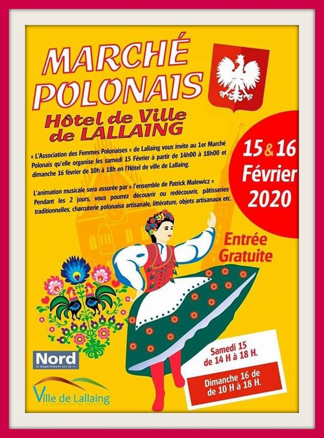 15 et 16 février 2020 : 1er Marché Polonais de LALLAING (59), organisé par l'association des Fem