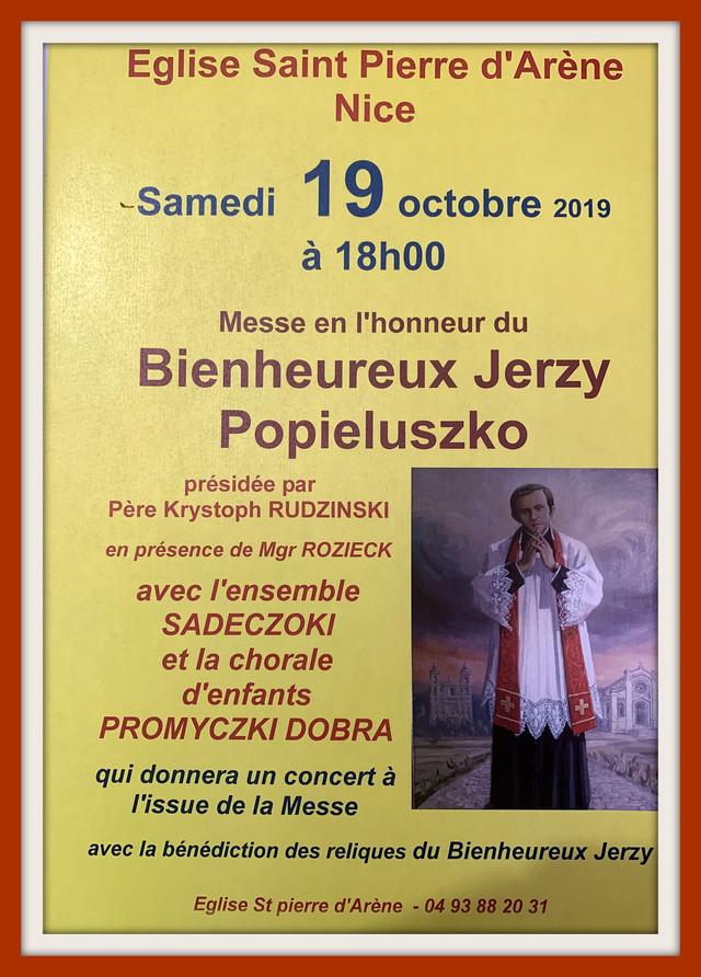 Le destin du Père Jerzy POPIEŁUSZKO s'est arrêté le 19 octobre 1984, mais sa parole ne s'est