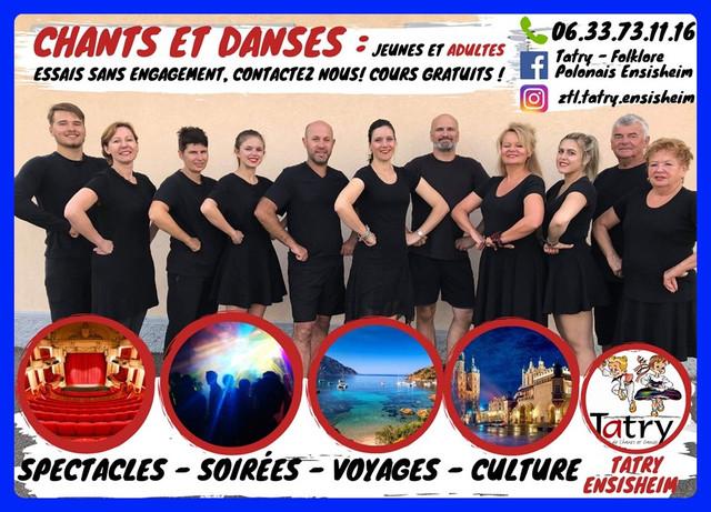 TATRY - ENSEMBLE DE CHANTS ET DANSES FOLKLORIQUES POLONAIS - 68190 Ensisheim, Alsace - (cliquez sur