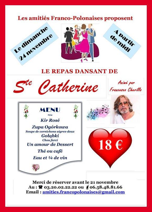 Les Amitiés Franco-Polonaises à ROUBAIX vous convient à la Ste Catherine
