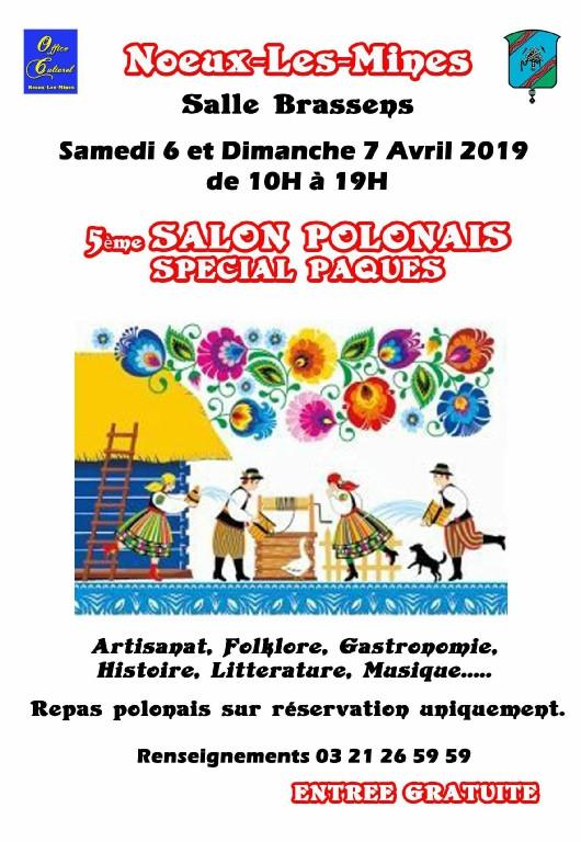 Rappel : le SALON POLONAIS de NOEUX-LES-MINES c'est samedi 6 et dimanche 7 avril 2019
