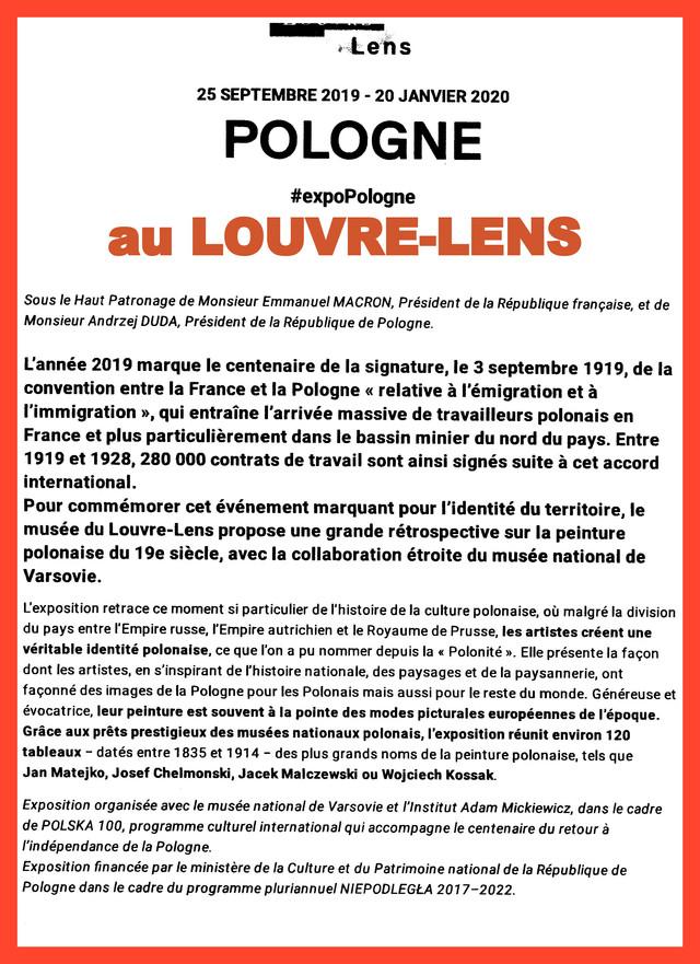 Expo POLOGNE au LOUVRE-LENS