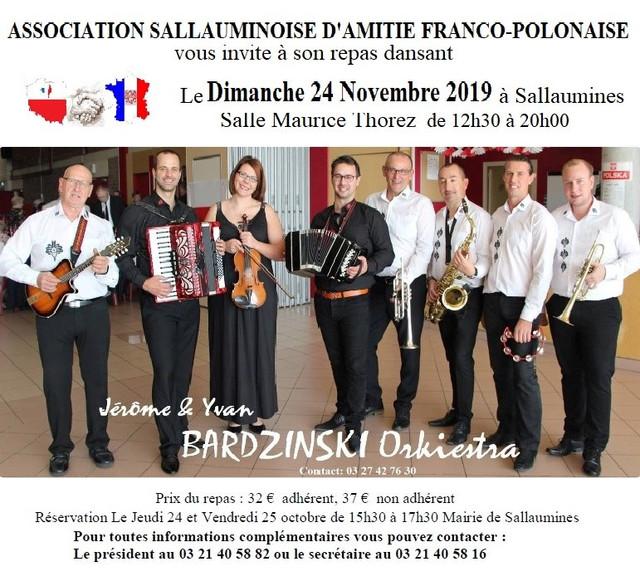 24.11.2019 à Sallaumines (62) _ Repas dansant de l'association d'Amitié Franco-Polonaise