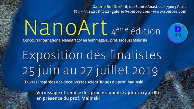 NANOART 4ème édition à PARIS - concours international Nanoart en hommage au professeur Tadeusz MALIN