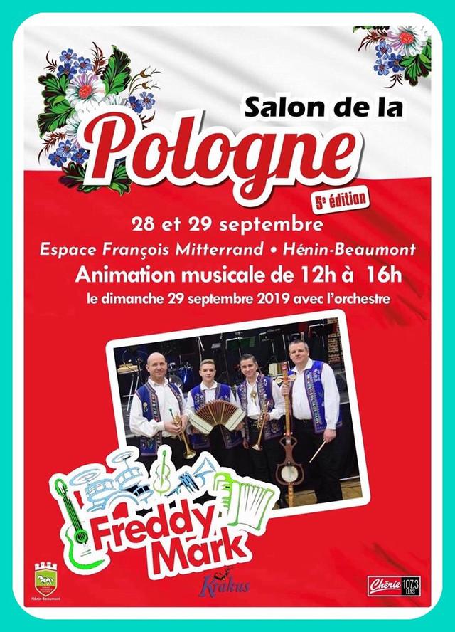L'orchestre FREDDY MARK sera au salon de la Pologne de Hénin-Beaumont (cliquez sur l'affiche