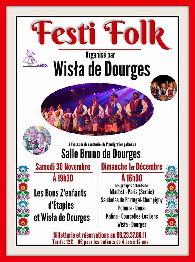 """FESTI FOLK organisé par """"WISŁA de DOURGES"""" cliquez sur l'affiche"""