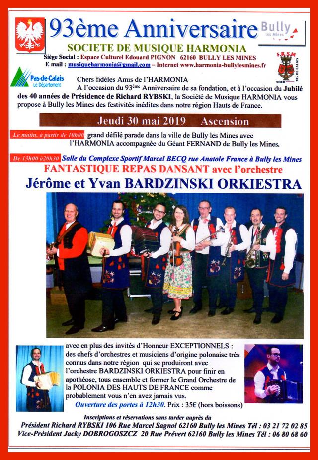 93 ans de la Société de Musique HARMONIA à Bully-Les-Mines