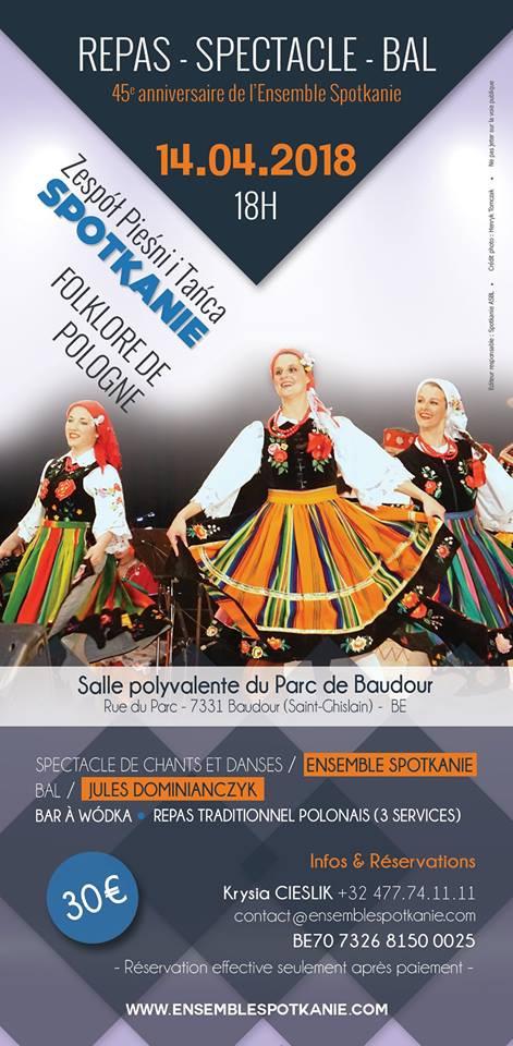 45ème anniversaire de l'Ensemble SPOTKANIE en Belgique