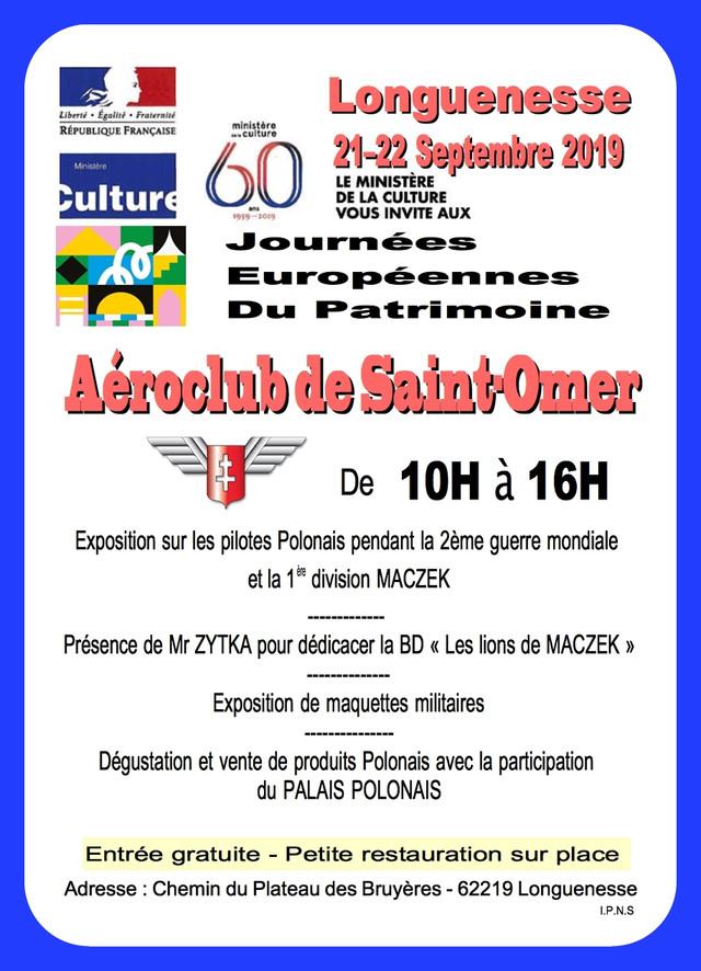 Aéroclub de SAINT-OMER exposition sur les pilotes Polonais (cliquez sur l'affiche)