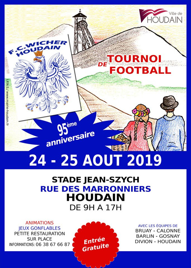 """Le football club """"WICHER"""" de HOUDAIN (62), créé par des polonais en 1924, fête son 95ème a"""