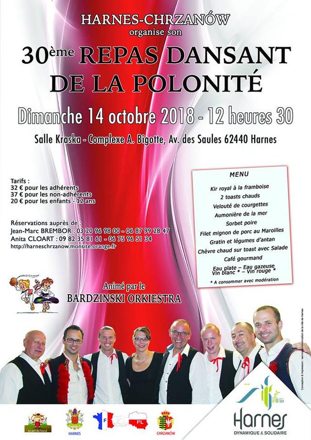 Harnes- Chrzanow - 30ème repas dansant de la polonité