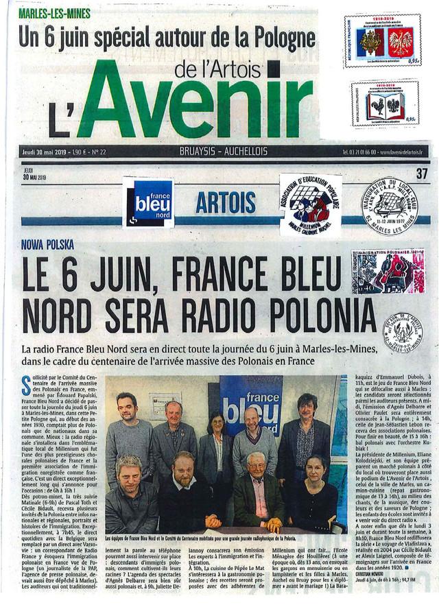 """En direct de Marles-Les-Mines : le 6 juin """"France Bleu Nord"""" sera """"Radio Polonia&quot"""
