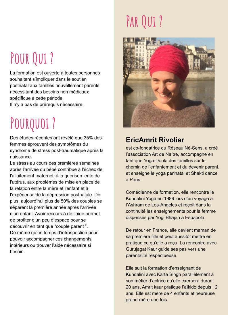 """Formation en ligne Doula Postnatale - """"Materner la mère"""" / les 14 et 15 novembre 2020"""
