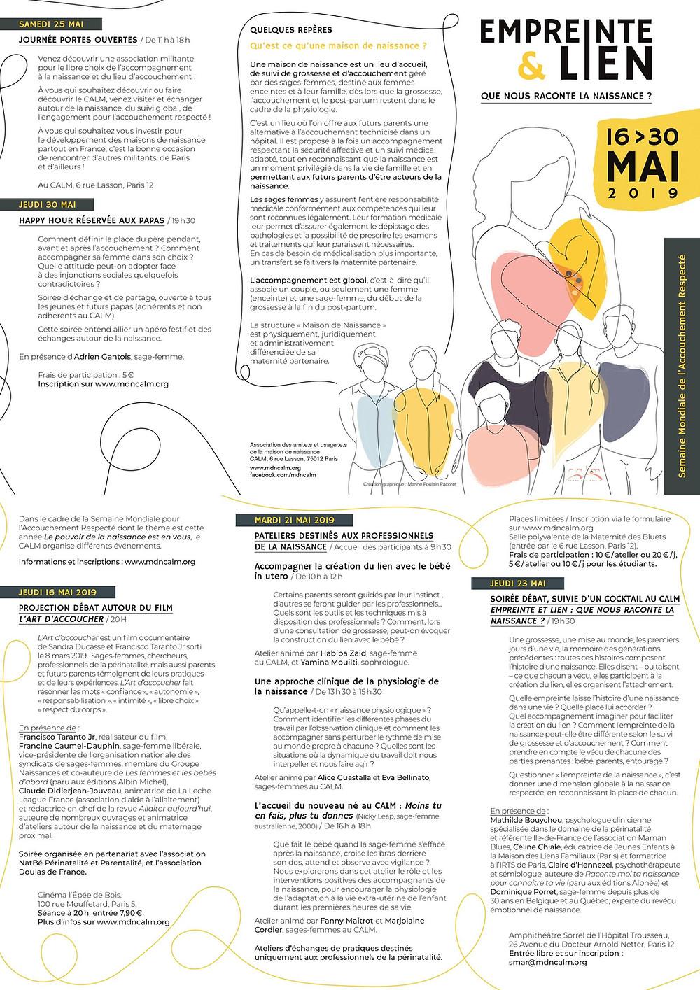 Empreinte & Lien programme des actions , débats, films, rencontres ...