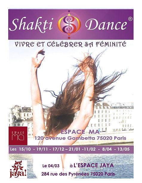 Ateliers de Shakti Dance à Paris avec Ericamrit Vivre et Célébrer sa féminité