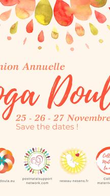 Réunion annuelle des Yoga Doulas, le 25, 26 et 27 novembre 2021