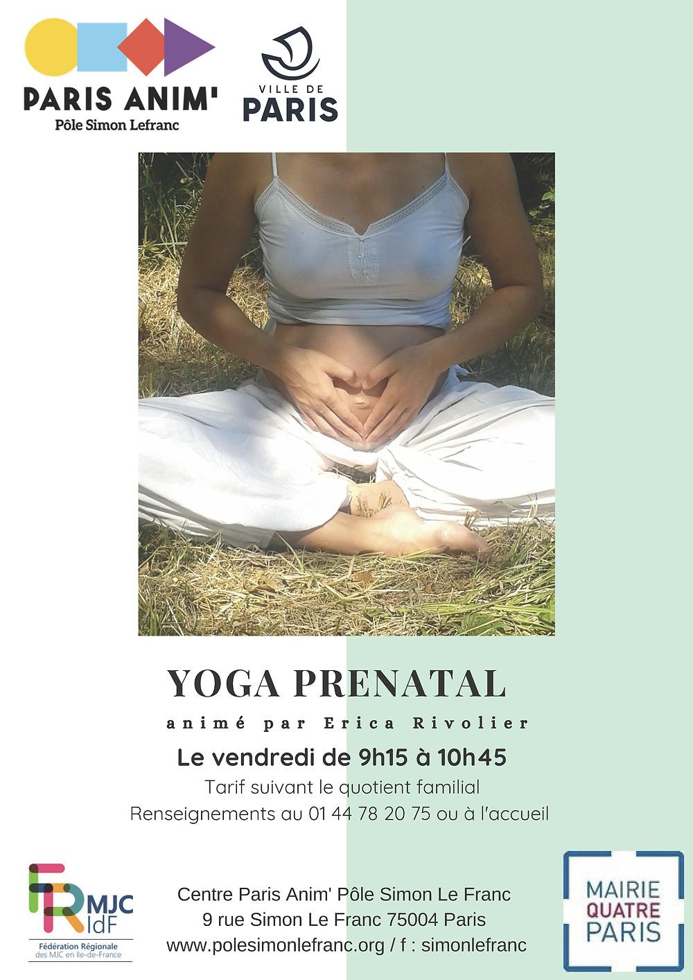Session Yoga Pré-natal - saison 2019/2020