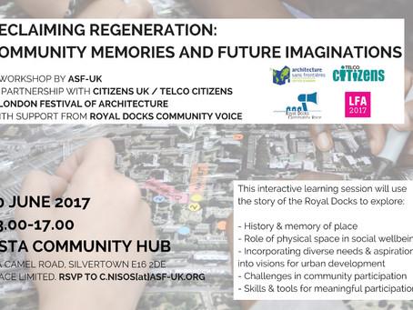 10 June: Workshop at London Festival of Architecture