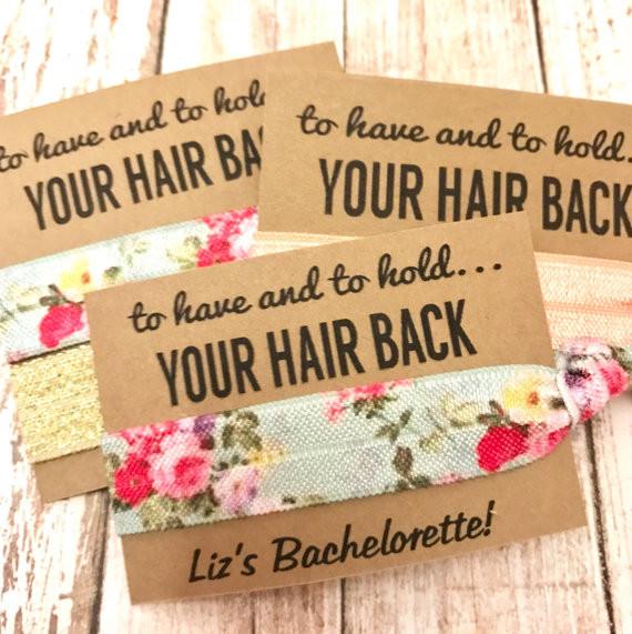 hair ties bachelorette party favor
