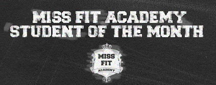 Miss Fit Academy's Student of the Month : November 2017