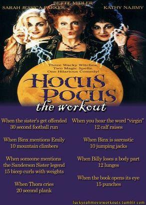 hocus pocus workout