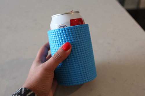 Koozie out of a yoga mat