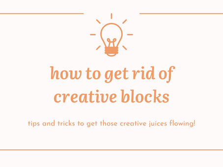 Tips to overcome creative blocks