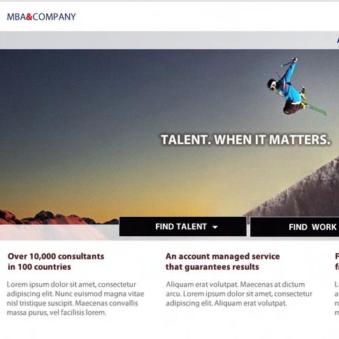 MBA&Co Recruitement company branding and web design.
