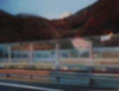 Andrew Hemigway,Landscapes, Motorway Screen near Villeneuve